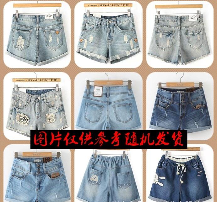 韩版女装短牛仔裤