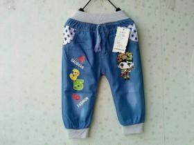 小童装洗水棉牛仔裤6元