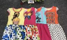 纯棉3-7岁中小儿童杂款连衣裙批发价8元