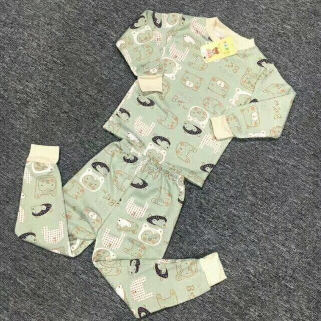 小童牛奶丝加绒保暖衣套装8元 5元童装批发 第1张