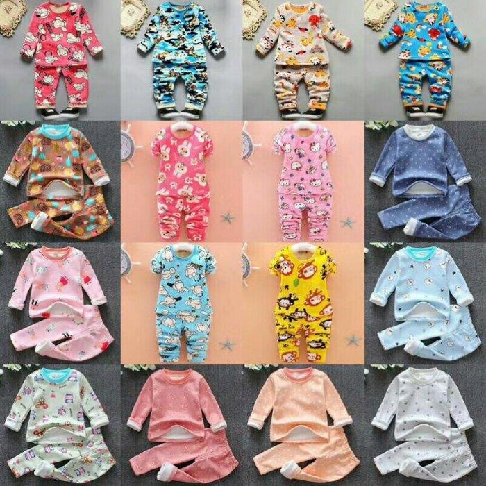 双面绒儿童保暖套装9元 5元童装批发 第11张