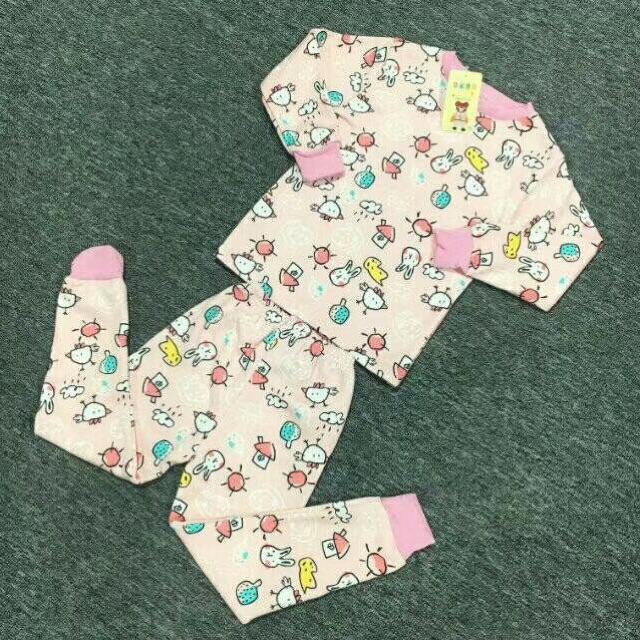 小童牛奶丝加绒保暖衣套装8元 5元童装批发 第9张