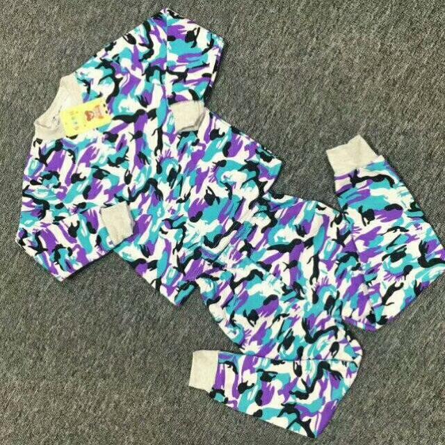 小童牛奶丝加绒保暖衣套装8元 5元童装批发 第6张