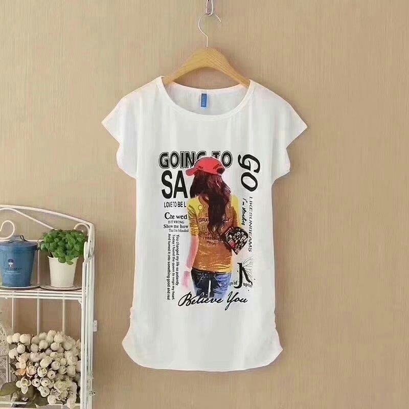 蝙蝠弹力牛奶丝棉女T恤衫 6元 夏季服装 第5张
