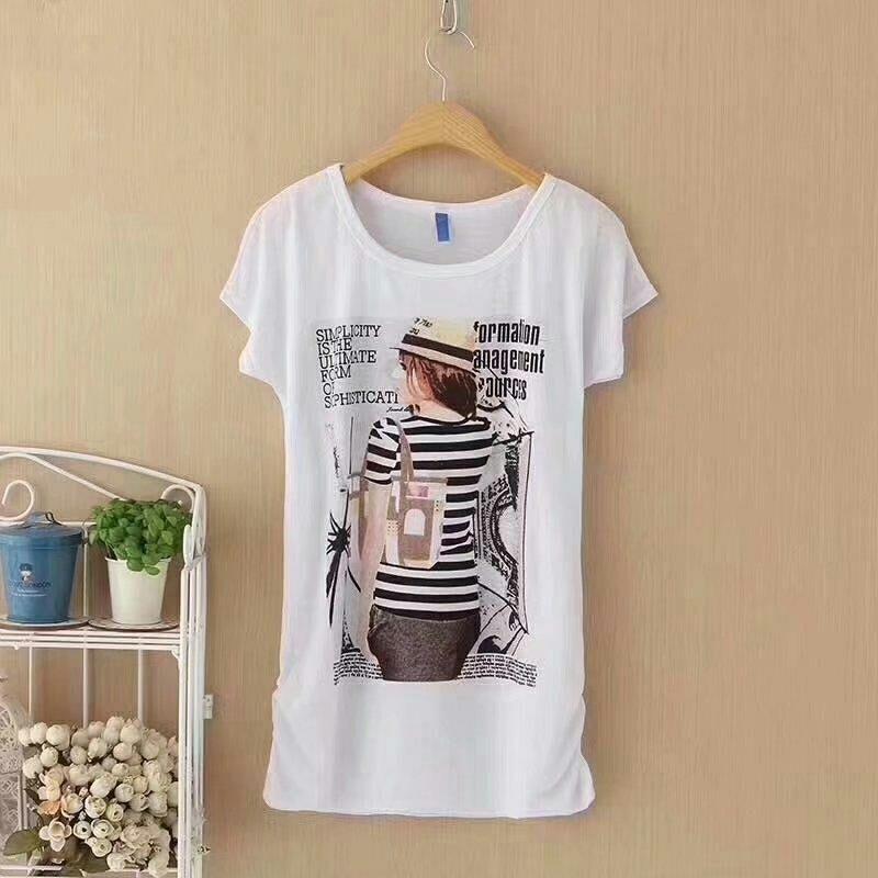 蝙蝠弹力牛奶丝棉女T恤衫 6元 夏季服装 第1张